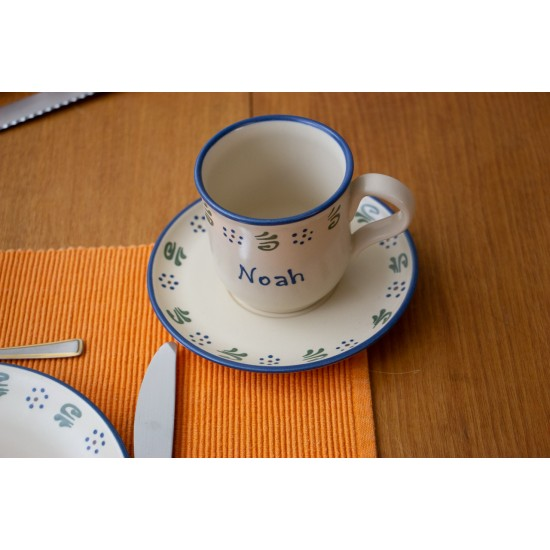 Named Mug/Saucer - Amerland Set of 2
