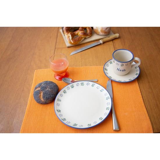 Named mug/Saucer/Breakfast plate - Amerland Set of 3