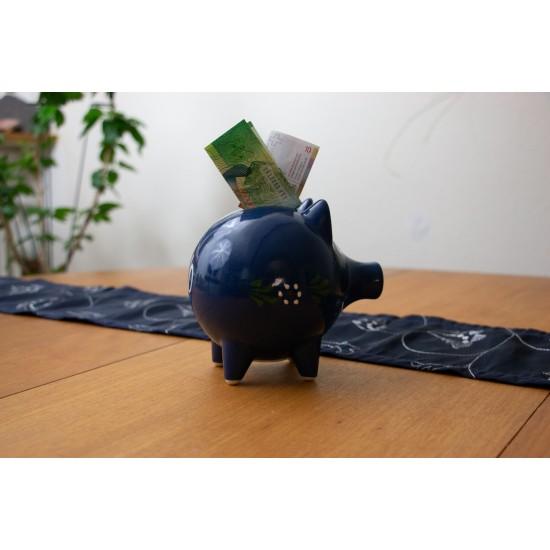 Piggy Bank - Bunzlau blue
