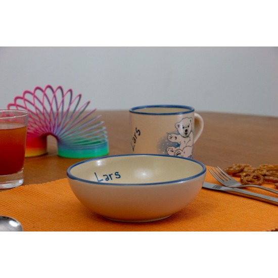 Named childre cup/Bowl - Icebear Set of 2