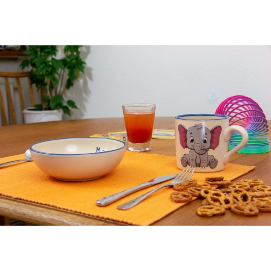 Named childre cup/Bowl - Elephant Set of 2