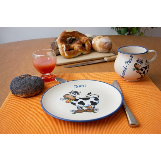 Molly mug/Breakfast plate - Cow