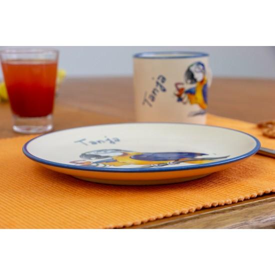 Breakfast plate - Parrot