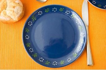 Frühstücksteller - bunzlau blau