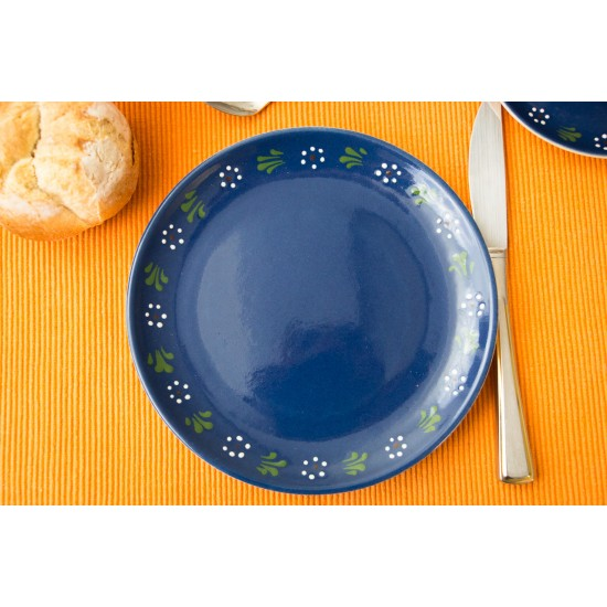 Breakfast plate - Bunzlau blue