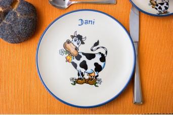 Frühstücksteller - Kuh